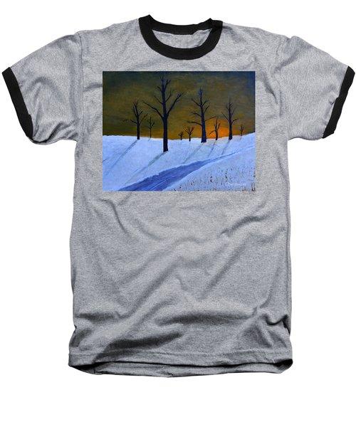 Stark Winter Sunset Baseball T-Shirt