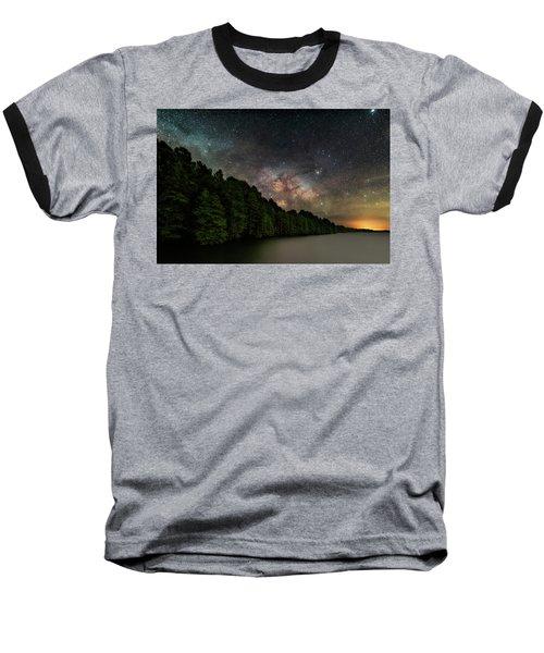 Starlight Swimming Baseball T-Shirt
