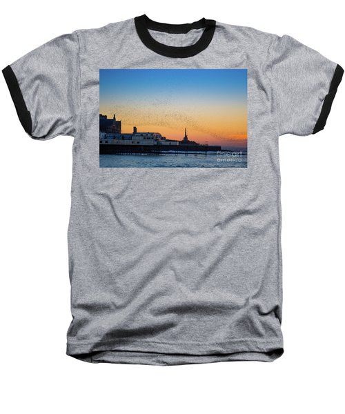 Starlings At Sunset In Aberystwyth Baseball T-Shirt