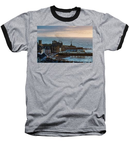 Starlings Over Aberystwyth On The West Wales Coast Baseball T-Shirt