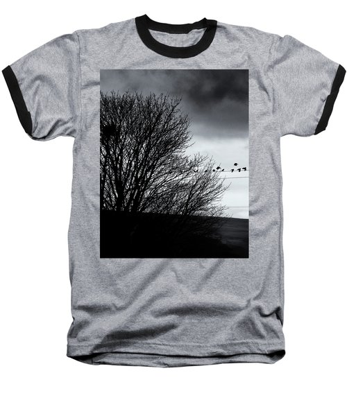 Starlings Roost Baseball T-Shirt by Philip Openshaw