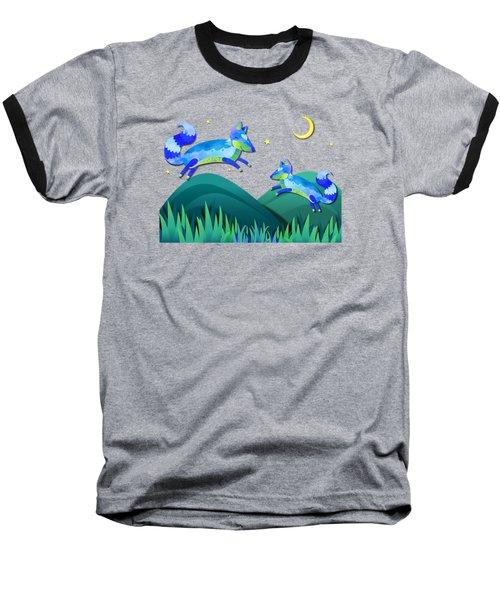 Starlit Foxes Baseball T-Shirt by Little Bunny Sunshine