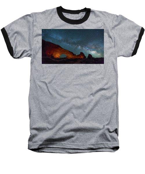 Starry Night At North Window Rock Baseball T-Shirt