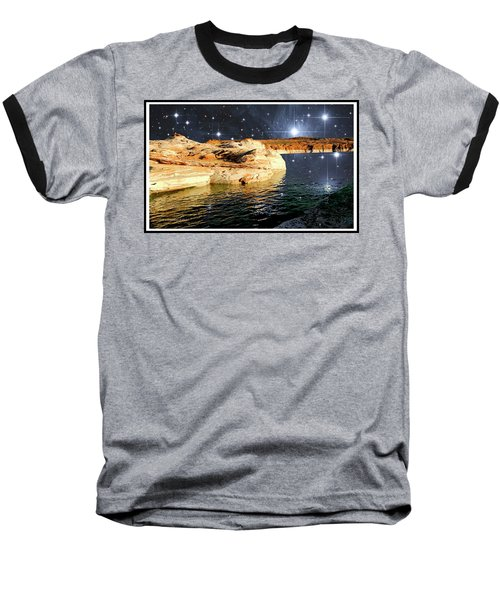 Starry Night Fantasy, Lake Powell, Arizona Baseball T-Shirt by A Gurmankin NASA STSci