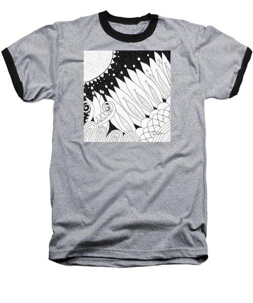 Starry Night Baseball T-Shirt by Lou Belcher