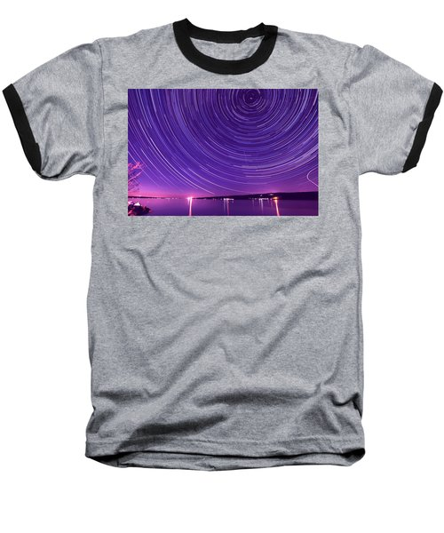 Starry Night Of Cayuga Lake Baseball T-Shirt by Paul Ge
