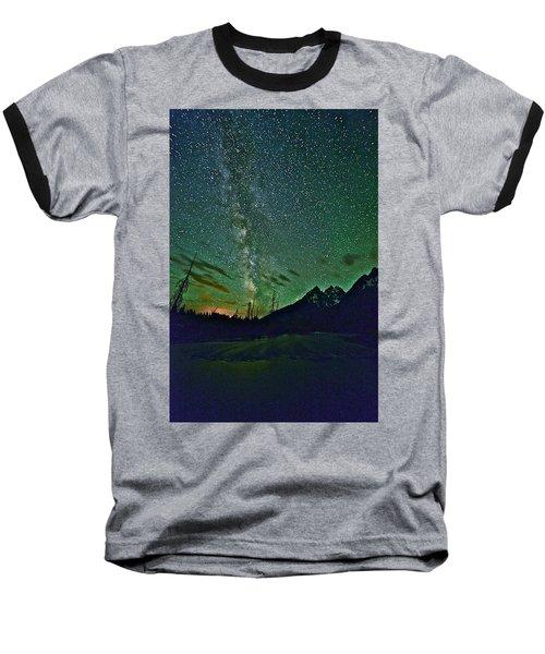 Starry Night Over The Tetons Baseball T-Shirt
