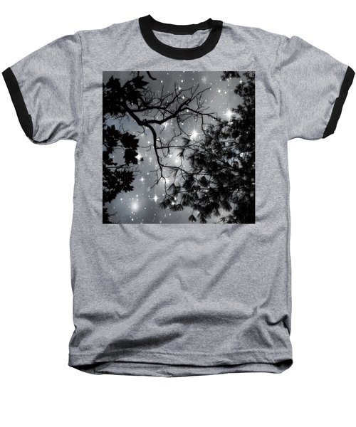 Starry Night Sky Baseball T-Shirt