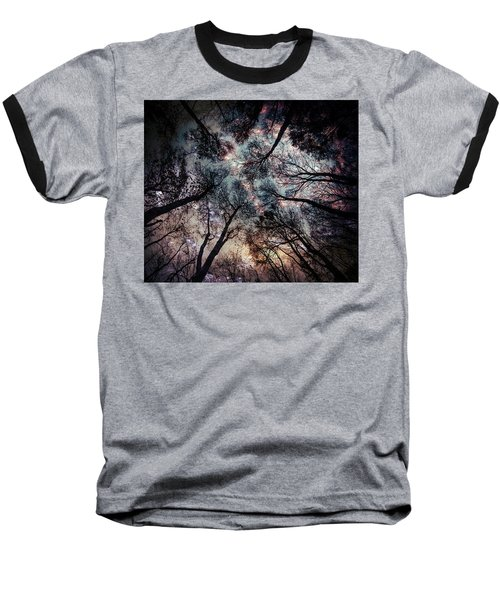 Starry Sky In The Forest Baseball T-Shirt
