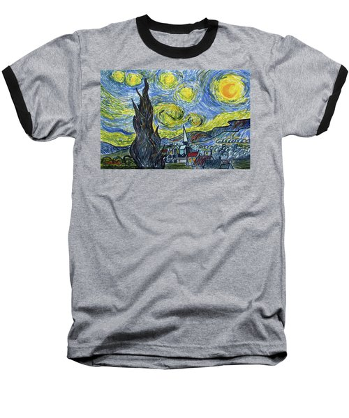 Starry, Starry Night Baseball T-Shirt