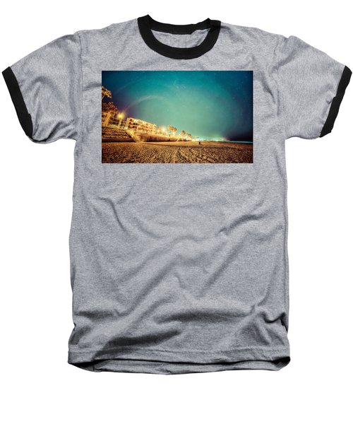 Starry Starry Pacific Beach Baseball T-Shirt