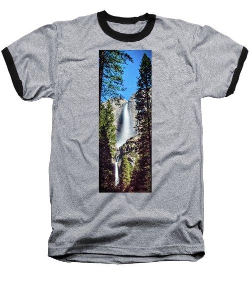 Starry Yosemite Falls Baseball T-Shirt