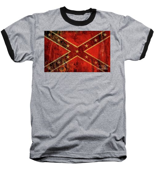 Stars And Bars Confederate Flag Baseball T-Shirt by Randy Steele