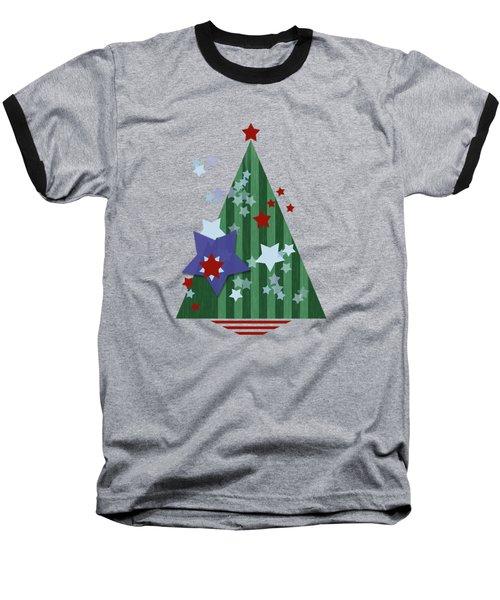 Stars And Stripes - Christmas Edition Baseball T-Shirt by AugenWerk Susann Serfezi