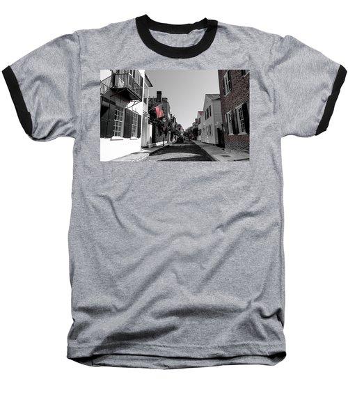 Stars And Stripes- Church St Charleston Sc Baseball T-Shirt