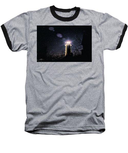 Stars Over Nobska Lighthouse Baseball T-Shirt