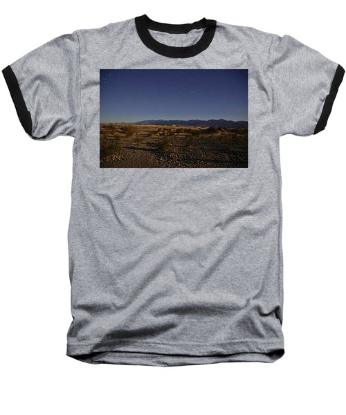 Stars Over The Mesquite Dunes Baseball T-Shirt by Michael Courtney