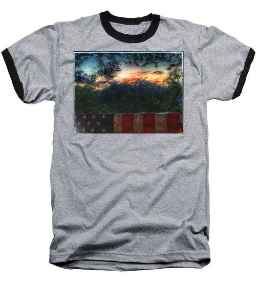 Stars Stripes And Skies Forever Baseball T-Shirt