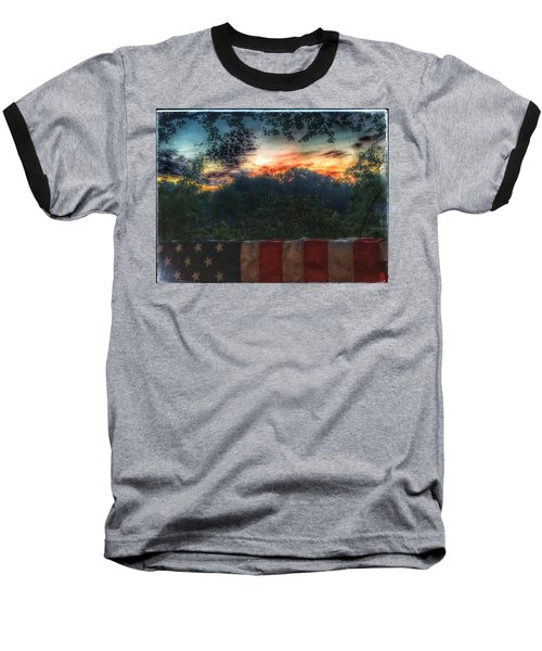 Stars Stripes And Skies Forever Baseball T-Shirt