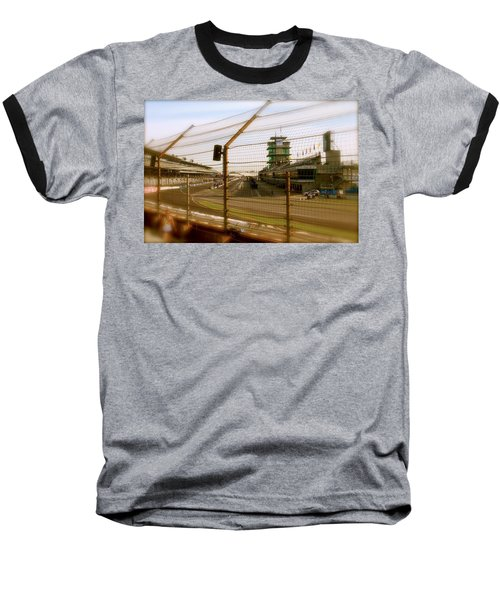 Baseball T-Shirt featuring the photograph Start Finish Indianapolis Motor Speedway by Iconic Images Art Gallery David Pucciarelli