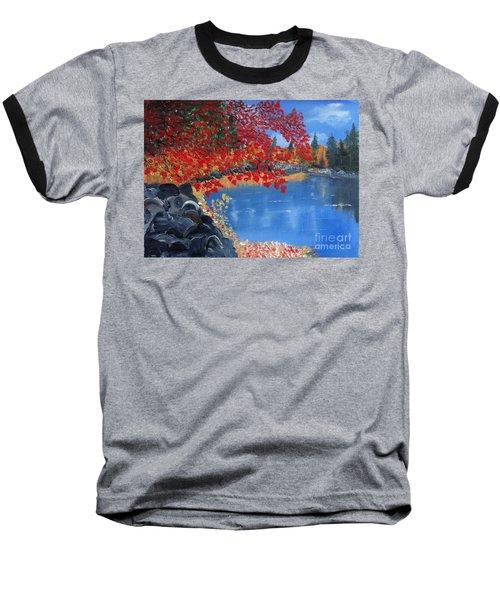 Start Of Fall Baseball T-Shirt by Rod Jellison