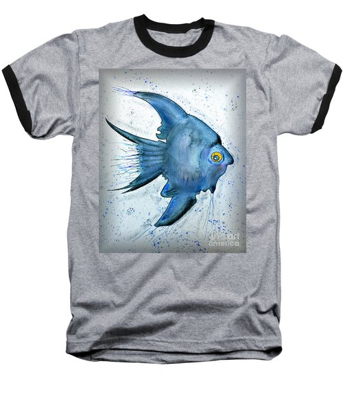 Startled Fish Baseball T-Shirt by Walt Foegelle