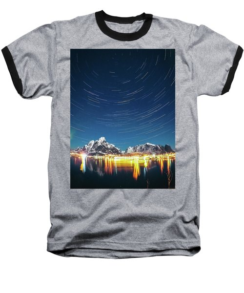 Startrails Above Reine Baseball T-Shirt