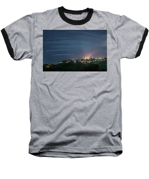 Startrails Over San Gimignano Baseball T-Shirt