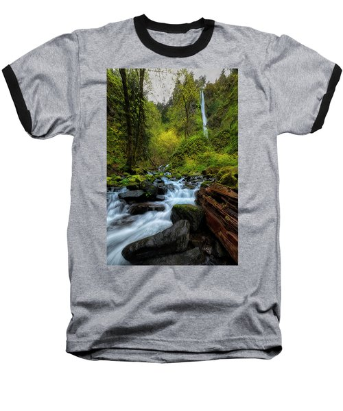 Baseball T-Shirt featuring the photograph Starvation Creek And Falls by Ryan Manuel