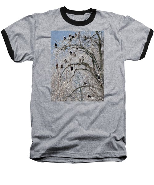 Baseball T-Shirt featuring the photograph Starved Rock Eagles by Paula Guttilla