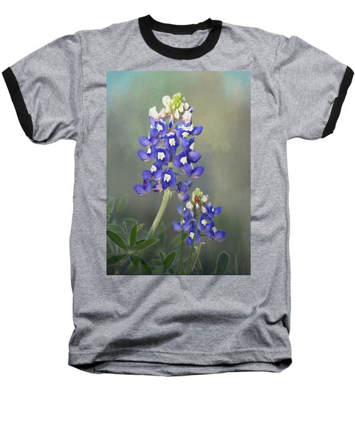 Baseball T-Shirt featuring the photograph State Flower Of Texas by David and Carol Kelly