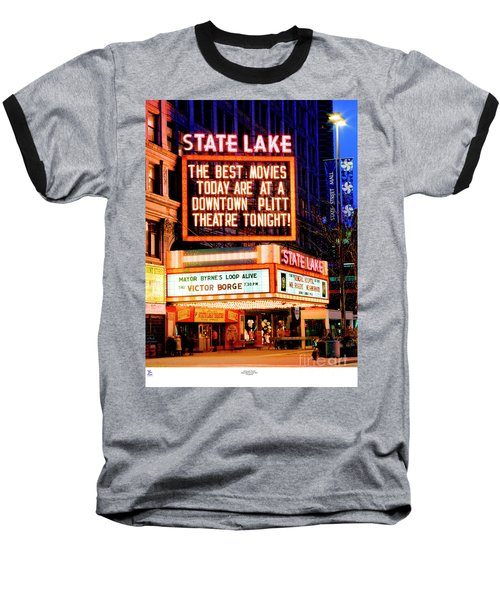 State-lake Theater Baseball T-Shirt