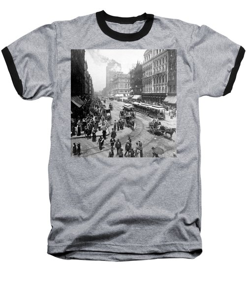 State Street - Chicago Illinois - C 1893 Baseball T-Shirt by International  Images