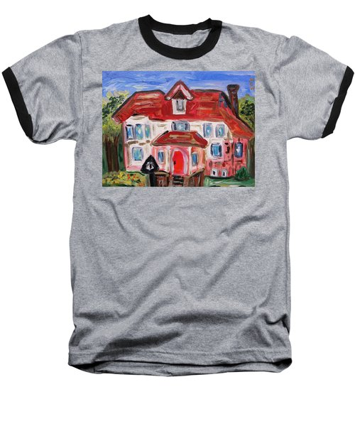 Stately City House Baseball T-Shirt by Mary Carol Williams