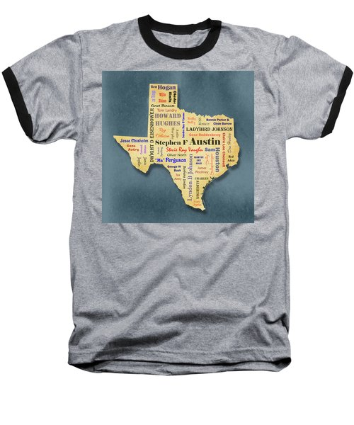 States - Famous Texas Baseball T-Shirt by Ron Grafe