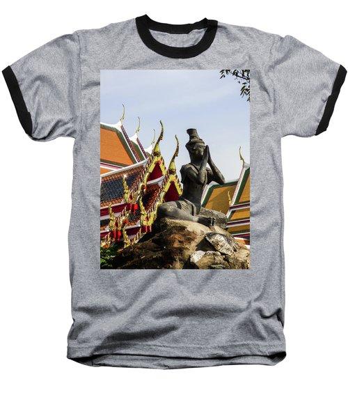 Statue At Famous Wat Pho Temple Baseball T-Shirt