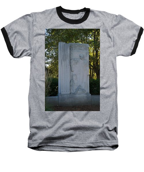 Statue Baseball T-Shirt by Joseph Yarbrough