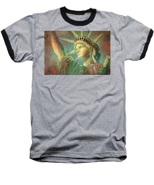 Statue Of Liberty 1 Baseball T-Shirt