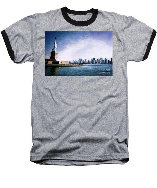 Statue Of Liberty Baseball T-Shirt