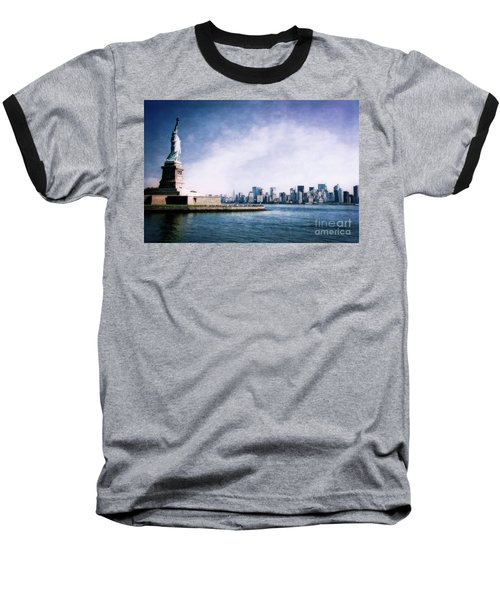 Statue Of Liberty Baseball T-Shirt
