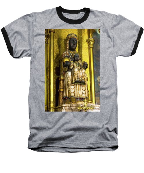 Statue Of The Virgin Mary Baseball T-Shirt