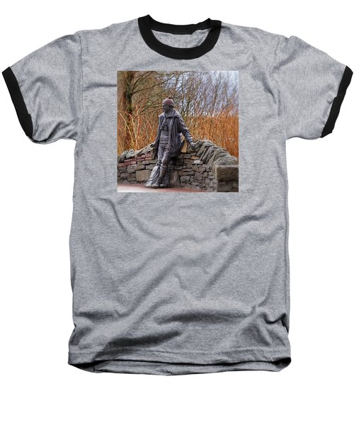 Baseball T-Shirt featuring the photograph Statue Of Tom Weir by Jeremy Lavender Photography