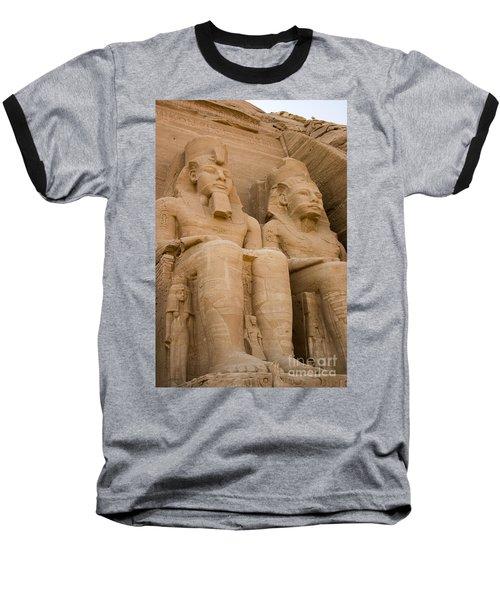 Statues At Abu Simbel Baseball T-Shirt by Darcy Michaelchuk