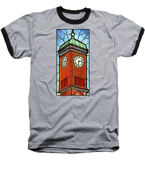 Staunton Clock Tower Landmark Baseball T-Shirt