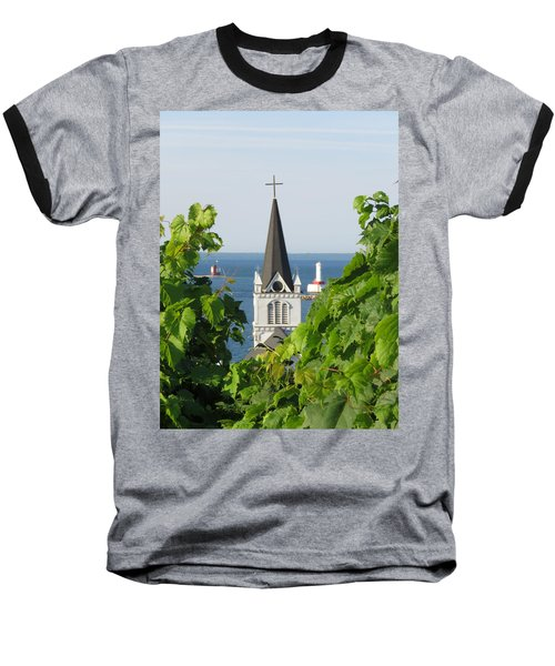 Ste. Anne's Steeple Baseball T-Shirt