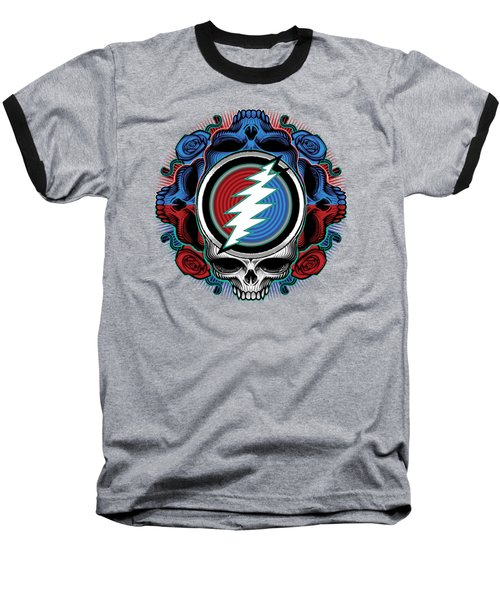 Steal Your Face - Ilustration Baseball T-Shirt