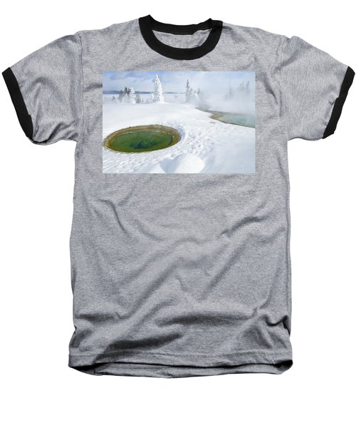 Steam And Snow Baseball T-Shirt