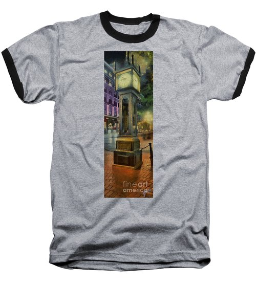 Steam Clock Gastown Baseball T-Shirt by Jim  Hatch