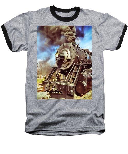Steam Engine Baseball T-Shirt