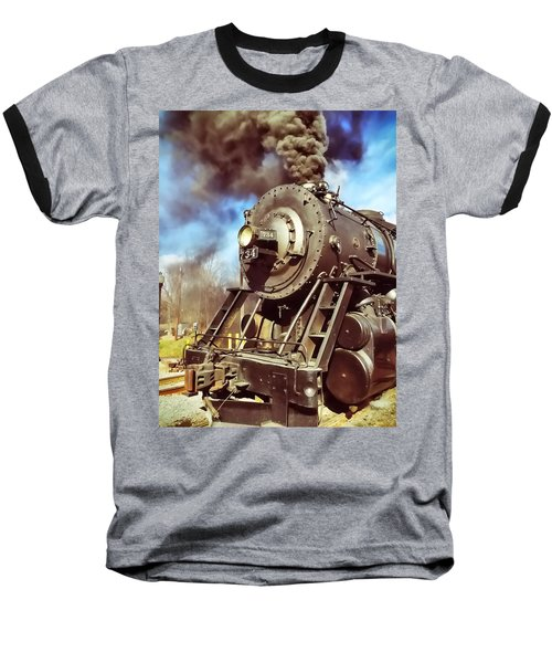 Steam Engine Baseball T-Shirt